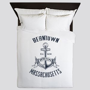 Beantown, Boston MA Queen Duvet